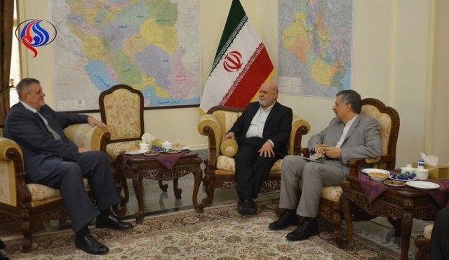 دیدار نماینده دبیر کل سازمان ملل در عراق با سفیر ایران در بغداد