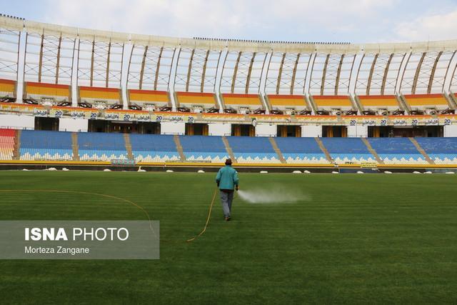 طبقه دوم استادیوم نقش دنیا برای شهرآورد اصفهان آماده می گردد