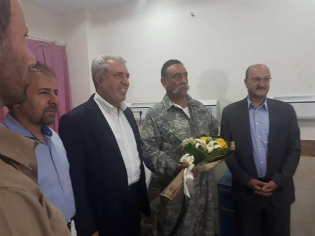 عیادت دکتر مونسان از مسئول دهکده طبیعت قزوین