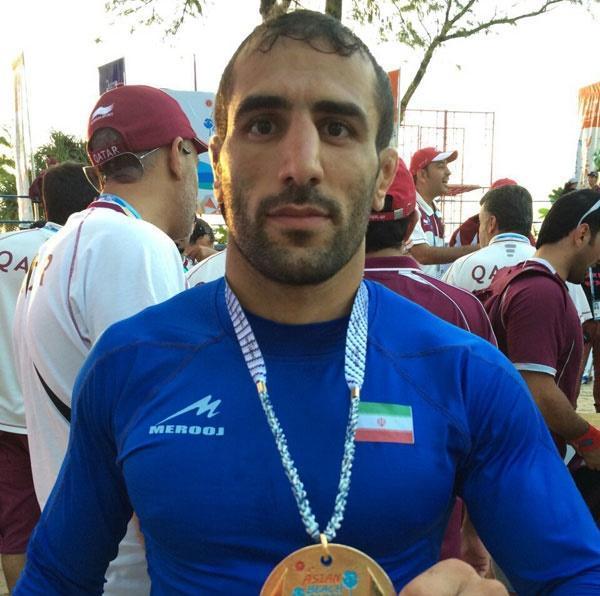 محمد نادری صاحب مدال طلای بازی های ساحلی آسیا شد