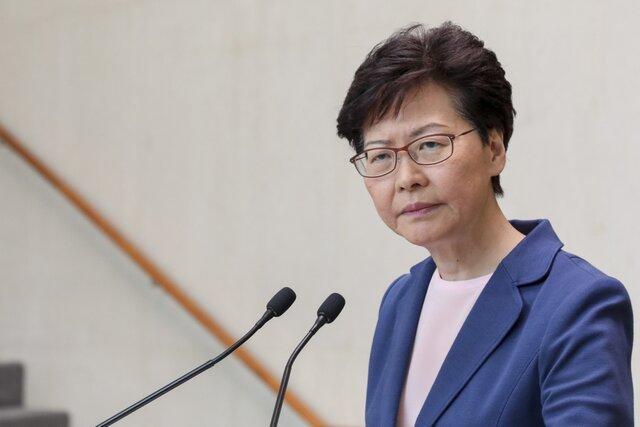 رهبر هنگ کنگ: راستا برون رفت از بحران، گفت وگو است