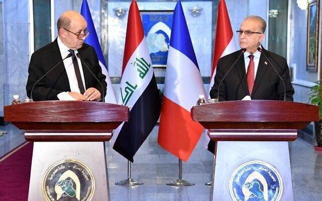 کنفرانس مطبوعاتی وزرای خارجه عراق و فرانسه