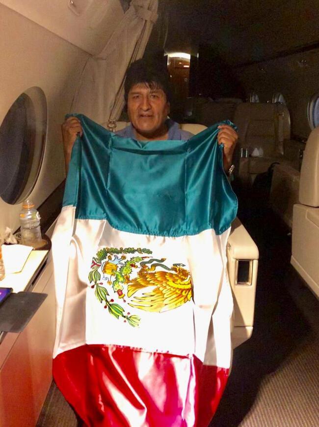لحظه خروج مورالس از بولیوی (